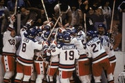 Team USA celebrated their win over the Soviet Union in 1980. Players have never forgotten the loyalty of coach Herb Brooks.