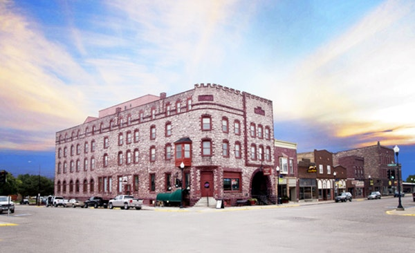 FILE-The historic Calumet Inn in Pipestone, Minn., is the subject of a fierce fight between its owner and local officials who have shut down the landm