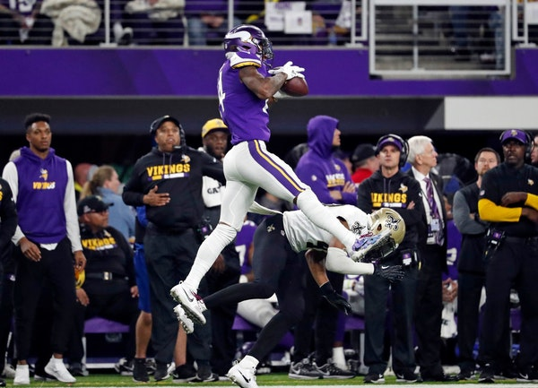 Stefon Diggs went high to make the catch on the play that would come to be known as the Minneapolis Miracle..