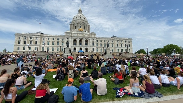 Minnesota youths demand change at 'Sit to Breathe' demonstration