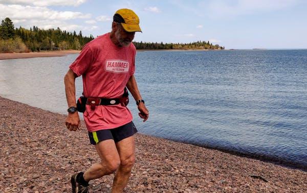 Michael Koppy, shown last June on the Lake Walk section of the Superior Hiking Trail near Grand Marais.