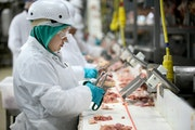 The USDA has allowed chicken processors to boost production-line speeds in recent months, though the JBS plant in Cold Spring, shown here in a 2016 ph