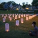 """""""Say Their Names Cemetery,"""" at 37th Street and Park Avenue S. in Minneapolis, includes 100 headstones representing African-Americans who have died"""