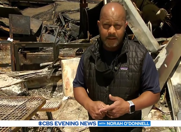 Jeff Pegues has encountered some tense moments while reporting from Minneapolis for CBS.