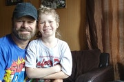 Jerry Essary of Sauk Centre and his nine-year-old son, Colton.
