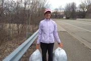 """Laurie Hanson happily embraces her nickname """"Trash Lady of Ramsey."""""""