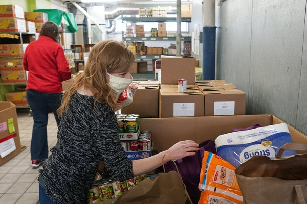 The Community Emergency Service is seeing high usage of its foodshelf as workers are either not called back yet or are getting fewer hours.