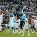 """The Loons jumped up for """"Wonder Wall"""" by Oasis as they celebrated the team's first home win in the new Allianz Field in St. Paul in April 2019."""