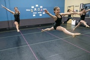Dance at a distance: The floors of Jeanne Johnson's South Metro Dance Academy are marked to separate dancers to allow for social distancing during h