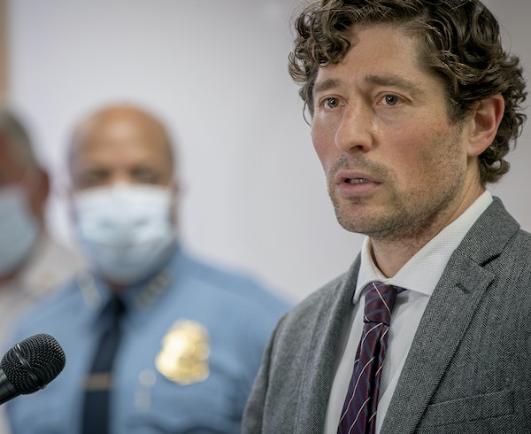 Minneapolis Mayor Jacob Frey speaks during a news conference Thursday, May 28, 2020.