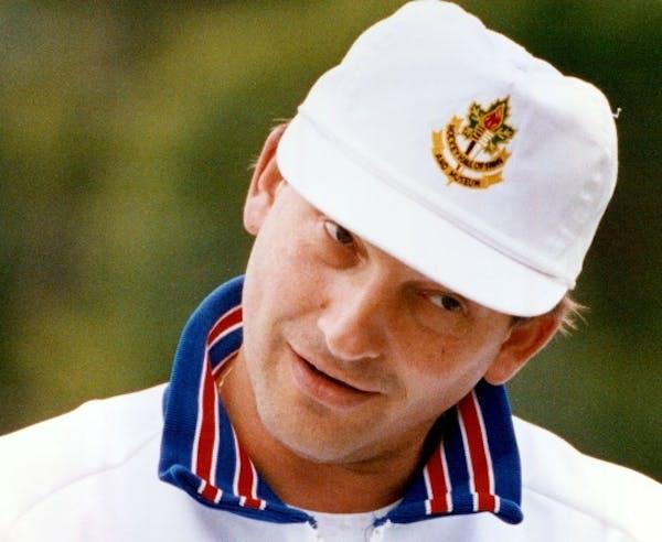Legendary Russian goalie Vladislav Tretiak was quite a catch for John and Lyn Erickson at their Detroit Lakes hockey camp in 1991.