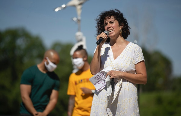 Alondra Cano was among council members participating in a June 7 event in Powderhorn Park where they promised to work toward ending the Police Departm