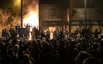 The Minneapolis Third Police Precinct state was set on fire during a third night of protests following the death of George Floyd while in Minneapolis