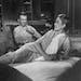"Jimmy Stewart and Grace Kelly in Alfred Hitchcock's 1954 film ""Rear Window."""