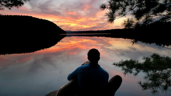 Aidan Jones took in a sublime sunset over John Lake in the Boundary Waters Canoe Area Wilderness.