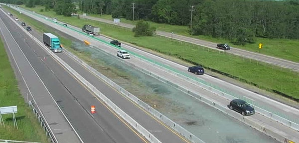 The Minnesota Department of Transportation has reconfigured traffic lanes on I-35W between Lake Drive and Sunset Road in Blaine.