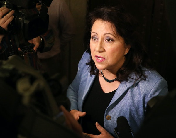 DFL state Sen. Patricia Torres Ray traded barbs with GOP Sen. Paul Gazelka over not being consulted on police reforms.