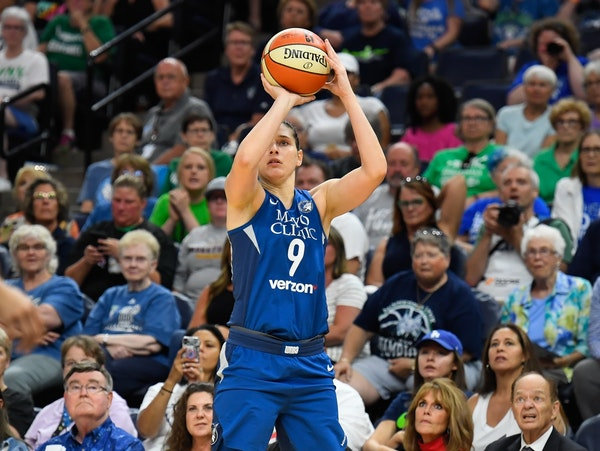 Minnesota Lynx forward Cecilia Zandalasini (9) pictured in a 2018 game.