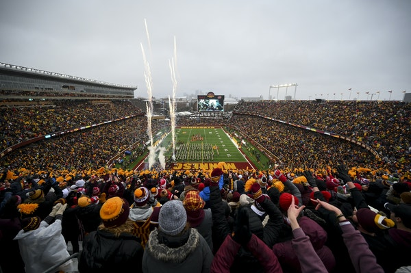 Fans packed TCF Bank Stadium when the Gophers played rival Wisconsin on Nov. 30, but it's unknown right now how full the University of Minnesota wil
