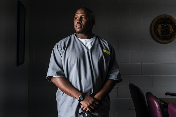 Jonathan Irons, who was serving a 50-year sentence for a conviction that was ultimately overturned, at Jefferson City Correctional Center