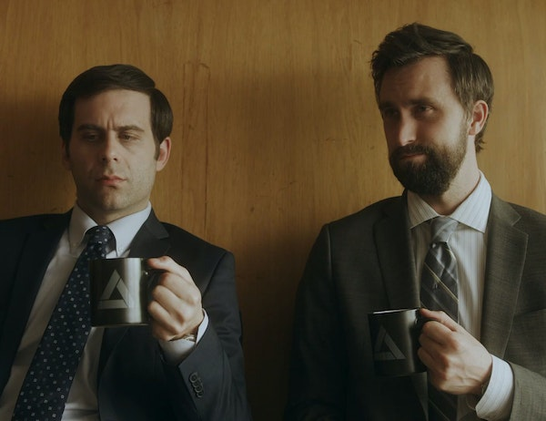 """In Comedy Central's """"Corporate,"""" Jake Weisman, left, and Matt Ingebretson are a pair of junior executives in training."""