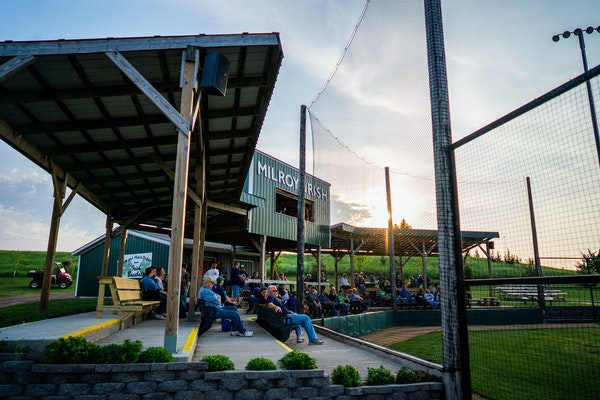Baseball is making a comeback in ballparks such as Milroy.