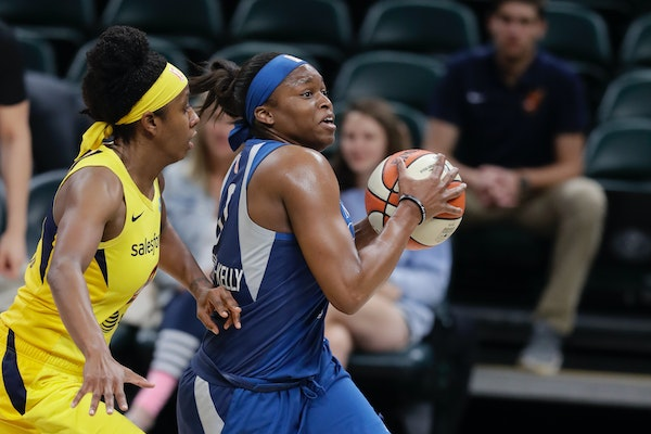 Karima Christmas-Kelly, right, spent only six games in a Lynx uniform last season, her second season in a row limited by injury.