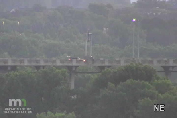 Law enforcement had both directions of the Mendota Bridge closed Monday morning.