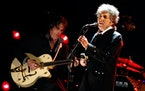 Bob Dylan onstage during the Critics' Choice Movie Awards held at the Hollywood Palladium in 2012. Christopher Polk • Getty Images