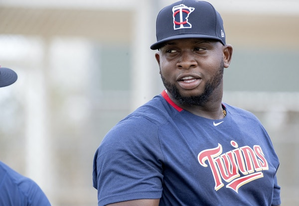 Miguel Sano during spring training in Florida on Feb. 16.
