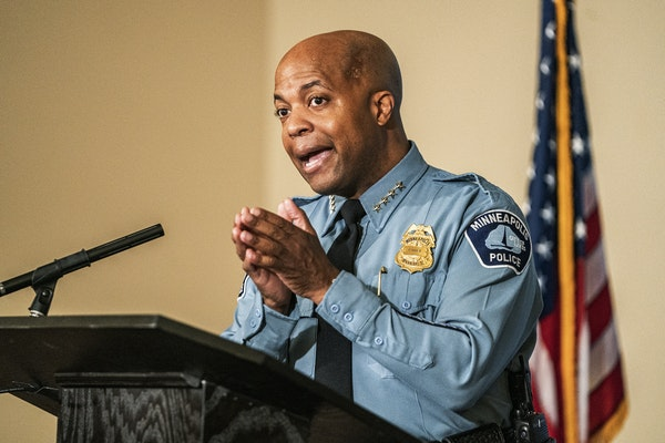 """Minneapolis Police Chief Medaria Arradondo issued a statement on George Floyd's death: """"This was murder — it wasn't a lack of training."""""""