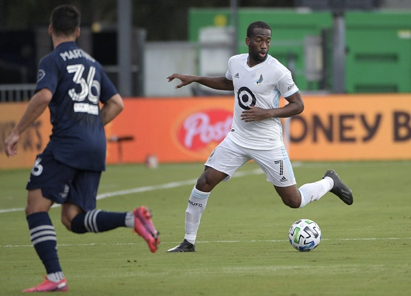 Minnesota United midfielder Kevin Molino set up a play vs. Sporting Kansas City before he scored the winning goal Sunday in stoppage time. It was his