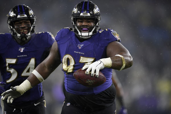 Defensive tackle Michael Pierce signed with the Vikings as a free agent in March after four seasons with the Ravens.