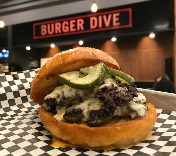 Burger at Burger Dive at Potluck