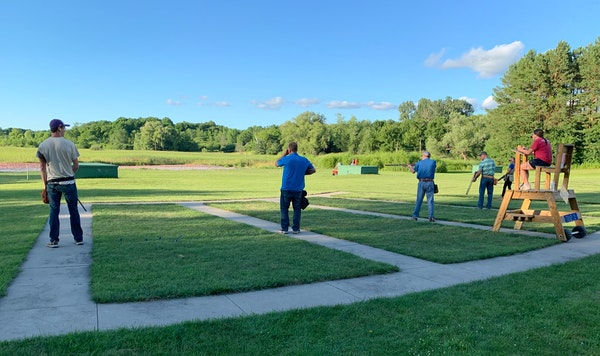 Trapshooters had clear weather Tuesday during league night at Park Sportsmens Club in Orono. The club, first organized in 1939, is a slice of American