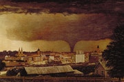 """""""Tornado over St. Paul"""" Julius Holm's 1893 painting hangs at the Minneapolis Institute of Art. It was derived from a photo of a tornado taken by"""