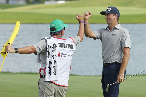 A meeting of the minds between champion Michael Thompson and caddie Damian Lopez inspired Thompson, who closed out the 3M Open with two birdies on the
