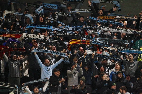 Minnesota United supporters celebrated their team's victory over Portland in the season opener on March 1. The Loons got off to a 2-0 start before MLS