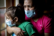 """A cleaning worker at the Jennie-O plant, Mejia fell ill and then found that her whole family had been infected with COVID-19: """"We all got sick."""""""