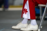 Polka king Winnie Taylor broke out his best dancing duds for the show in Grand Rapids.