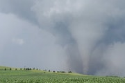 A tornado was caught in action near Dalton, Minn., in Otter Tail County, Wednesday evening.