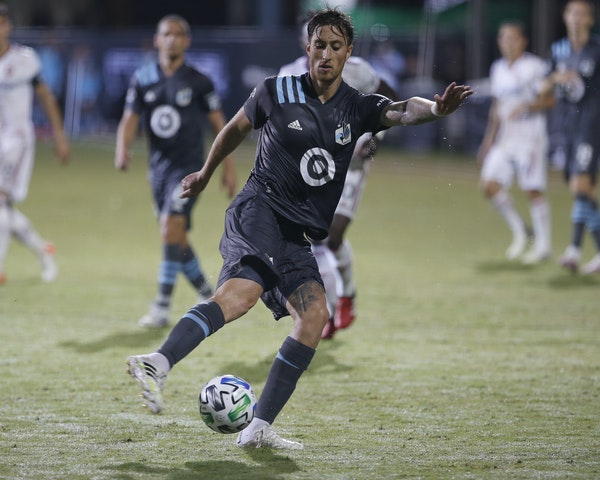 Minnesota United defender Jose Aja (4), playing against Real Salt Lake on July 1, has stepped in for injured team leader Ike Opara.