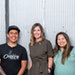 From left to right: ViV!R chef/co-owner Jose Alarcon, co-owner Jami Olson and pastry chef Ngia Xiong.