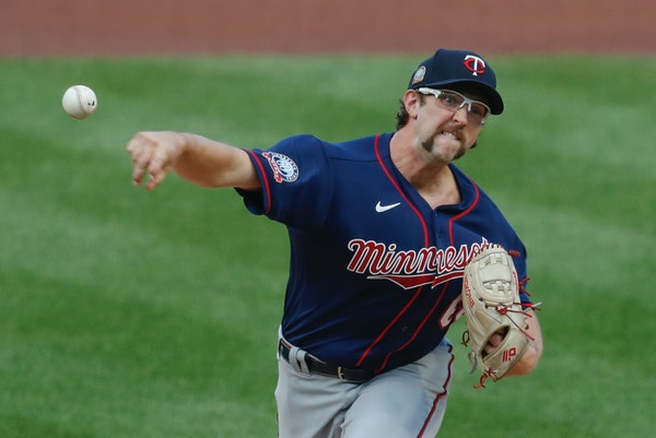 Twins starter Randy Dobnak pitches against the Pirates in the first inning Wednesday