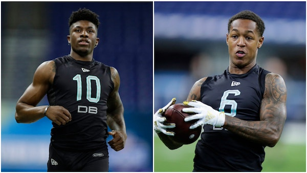 First-round draft choice Jeff Gladney and third-round choice Cameron Dantzler, shown at the NFL Combine earlier this year, are among those who will li