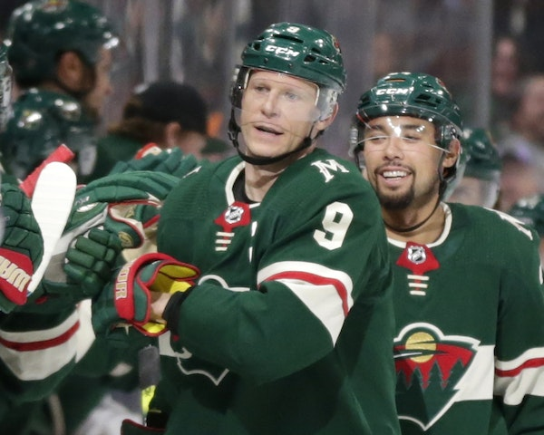 Mikko Koivu (9) has played his entire NHL career with the Wild, breaking in as a rookie in 2005.