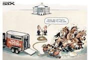 Sack cartoon: What it's gonna take
