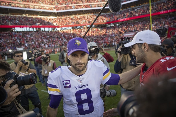 Vikings quarterback Kirk Cousins after a playoff loss to the 49ers in January.