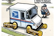 Sack cartoon: Election tampering
