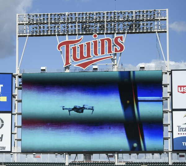 A drone forced a delay during Tuesday's game between the Twins and the Pirates.